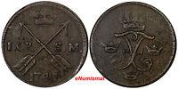 Sweden Frederick I Copper 1741 1 Ore, S.M. KM# 416.1