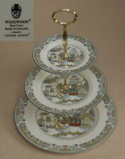 "Wedgwood ""Chinese Legend"" (Blue Trim) THREE TIER CAKE STAND."