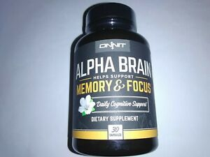 30 ONNIT Alpha Brain  MEMORY & FOCUS Expire 8/2022   NEW, FREE SHIPPING