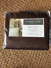 XL Twin Charter Club Damask Solid Sheet Set