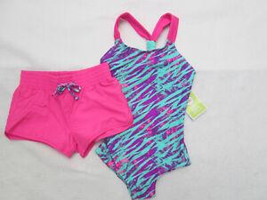 Girls Swim swimsuit one piece 2T XS  Two piece Medium Large NEW Circo