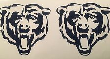 "Chicago Bears 2pack Of Decals 4.5""x4.5"" Vinyl Sticker **FREE SHIPPING**"