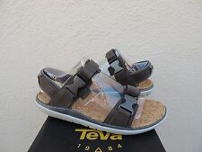 TEVA CHARCOAL TERRA-FLOAT UNIVERSAL LUX STRAPPY SANDALS, MEN US 9/ EUR 42 ~NEW