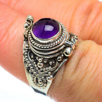 Amethyst 925 Sterling Silver Poison Ring Size 7 Ana Co Jewelry R46855F