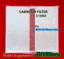 C15868 A Pair of PREMIUM AC CABIN AIR FILTERS for 2004-2009 Nissan Quest