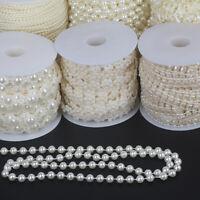 Pearl Bead Chain Artificial Bridal Flower Garland Wedding Party Venue Decoration