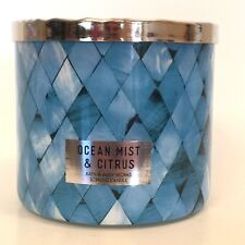 BATH & BODY WORKS OCEAN MIST & CITRUS SCENTED 3-WICK 14.5 OZ LARGE FILLED CANDLE