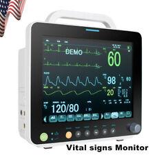 Medical Vital Sign Monitor Ecgnibpresp Temp Spo2 Pr 6 Parameter Icu Monitor