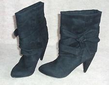 Women's black SPRING fashion ankle boots , sz 38 (7.5)