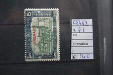 FRANCOBOLLI COLONIE CIRENAICA NUOVI** N°71 (F8442)