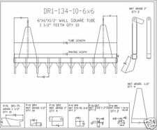 "dozer blade root rake, 134"" wide, 1675 lbs AR400 steel NEW"