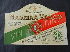 étiquette de vin Madeira Vasco