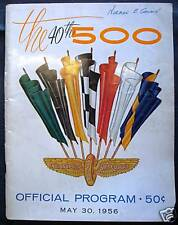 INDIANAPOLIS 500 OFFICIAL PROGRAMME PROGRAM 1956 RACE