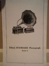 "Instructions Booklet for Edison Phonograph Model ""E"""