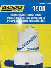 "Sea Choice Submersible Bilge Pump 1500 GPH 12v, 8 Amp 1 1/8"" Outlet Marine Grade photo"