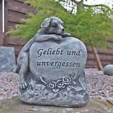 Steinfigur Grabschmuck Hund Geliebt und unvergessen Frostfest Steinguss