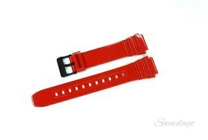 New Original Genuine Casio Wrist Watch Red Band Replacement Strap F-108WHC-4A