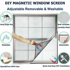 Window Net Adjustable Removable Washable Self Adhesive Magnetic Fastener Screen