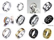 Men's Stainless Steel Mirror Polished Comfort Fit Wedding Band Ring