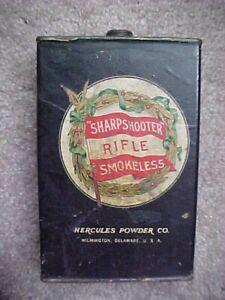 "VINTAGE HERCULES CO., ""SHARPSHOOTER"" RIFLE SMOKELESS GUN POWDER CAN (EMPTY)"
