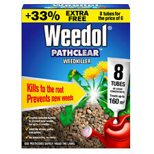 8 x WEEDOL PATHCLEAR WEEDKILLER TUBES LONG LASTING STOPS REGROWTH FOR 3 MONTHS