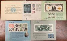 United States BEP B 96-100 Souvenir Cards 1986 Mint