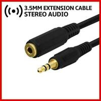 "5ft 3.5mm 1/8"" Stereo Audio Aux Headphone Cable Extension Male to Female -Black"