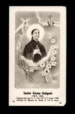 "santino-holy card""S.GEMMA GALGANI 5"