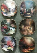 Thomas Kinkade 'Heaven on Earth' Bradford Exchange 6 Porcelain Plate #1,3-5,7,8.