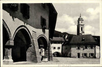 Berchtesgaden Bayern Ansichtskarte 1934 Partie am Schloßplatz mit Andreaskirche
