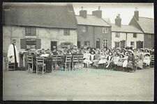 c.1910 Outdoor Church Service Hoby Leicestershire Postcard C842