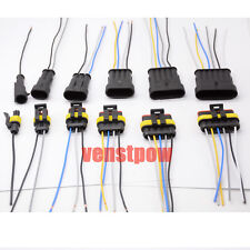 Connector Plug Wire harness Each 5pcs 1/2/3/4/5/6 Pin Waterproof Electrical Wire