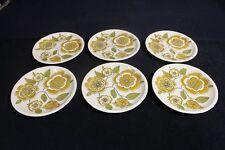 """Set of 6 Mikasa Pastelle Refresh D6202 Dinner Plates 10 5/8"""" Across"""
