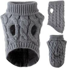 Small Medium Puppy Dog Cat Jumper Cable Knitted Sweater Pullover Winter Clothes