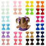 Candy Color Cute Bow Bowknot Kids Ribbon Hairpin Accessories Hair Clip Barrettes