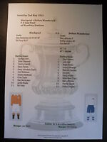 1953 FA Cup Final Blackpool v Bolton Wanderers Matchsheet