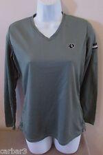 Women's Pearl Izumi L/S Green Poly Wicking Shirt w/Zip Arm Pocket Sz S/M