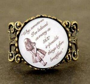 Ring Größenverstellbar  Alice's Adventures in Wonderland Motiv 3