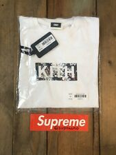 Kith Floral Classic Box Logo T-Shirt White Extra Small (fits one size up)