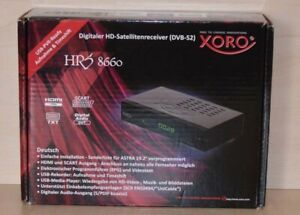 Xoro HRS 8660 DVB-S2 digitaler Satellitenreceiver Receiver schwarz B-Ware