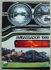 AMC AMBASSADOR USA Car Sales Brochure 1969 #AMX 6905
