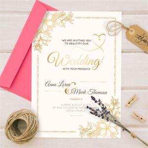 Personalised Wedding Day or Evening Invitations Invites Inc. FREE Envelopes