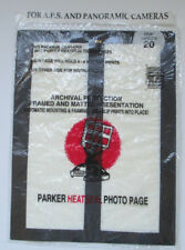5 #412 Parker Heatseal Photo Pages For A.P.S. & Panoramic Cameras, 4 4X12 Prints