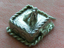 VINTAGE STERLING SILVER CHARM WEDDING CAKE OPENS