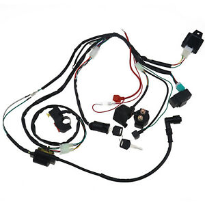 Wiring Loom Harness Coil CDI for 90cc 110cc PIT Quad Dirt Bike ATV Rectifier