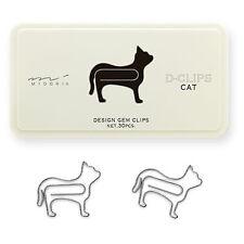 MIDORI Japan D-CLIPS 30 Design Gem Paper Clips with Plastic Case - Cat