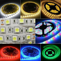 5M 300 LED Strip Light SMD 3528 5050 5630 RGB/White Flexible+Remote+Power GEMS