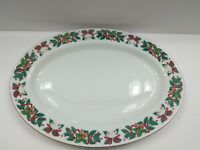 Royal Majestic Fine China Holiday Cheer Oval Serving Plate 14""