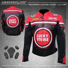 Lucky Strike Moto Motocicleta Jinete Chaqueta de cuero LAJ-138 (38-48 de EE. UU.)