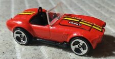 Hot Wheels Classic Cobra, Red with black interior 1982 Malaysia, Open hood